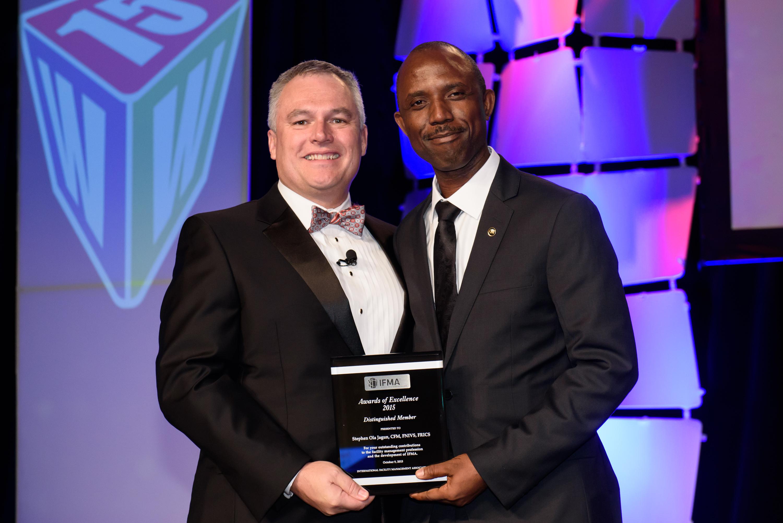 Stephen Jagun, CFM, FNIVS, FRICS receives Distinguished Member