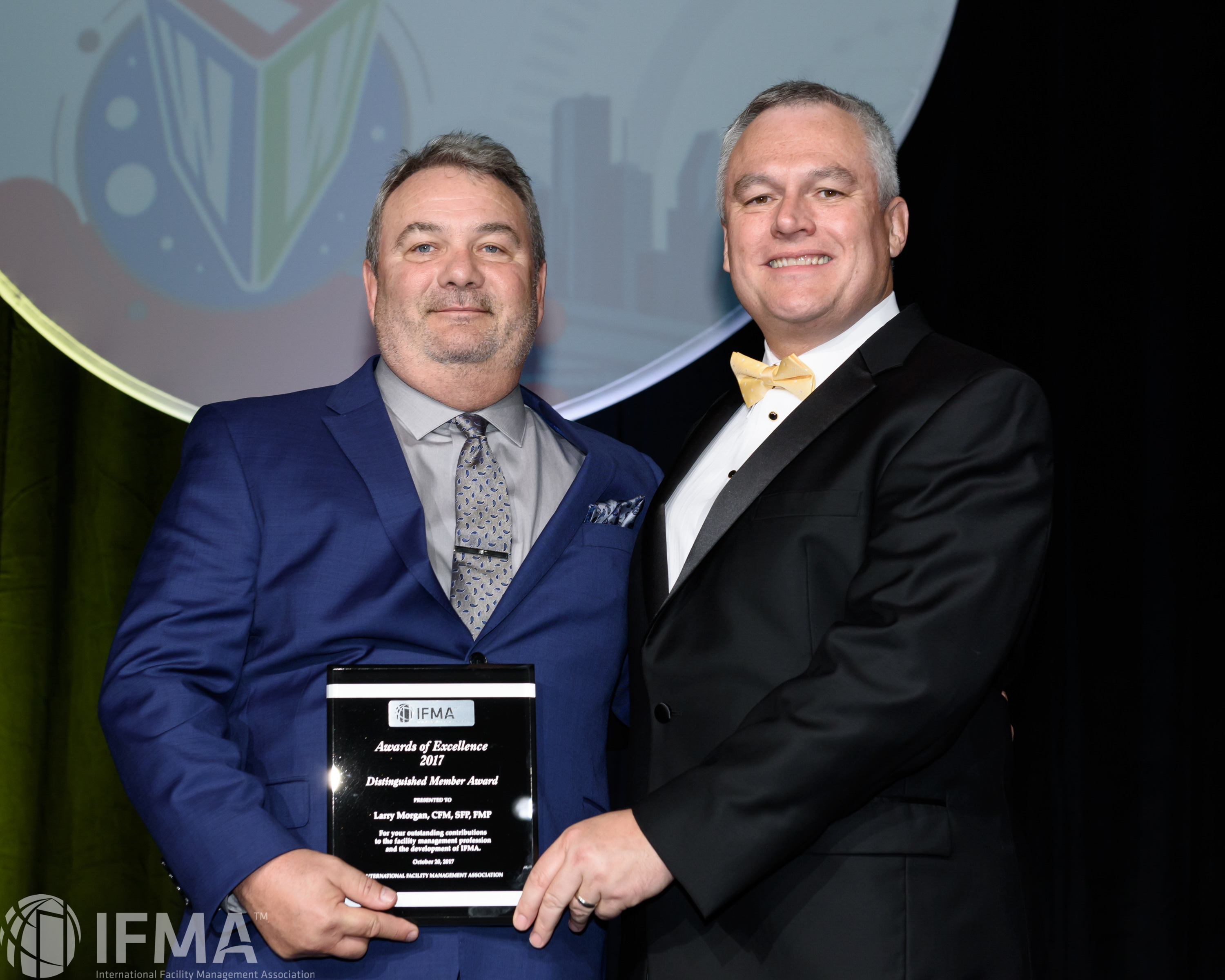Larry Morgan, CFM,SFP,FMP receives Distinguished Member of the Year