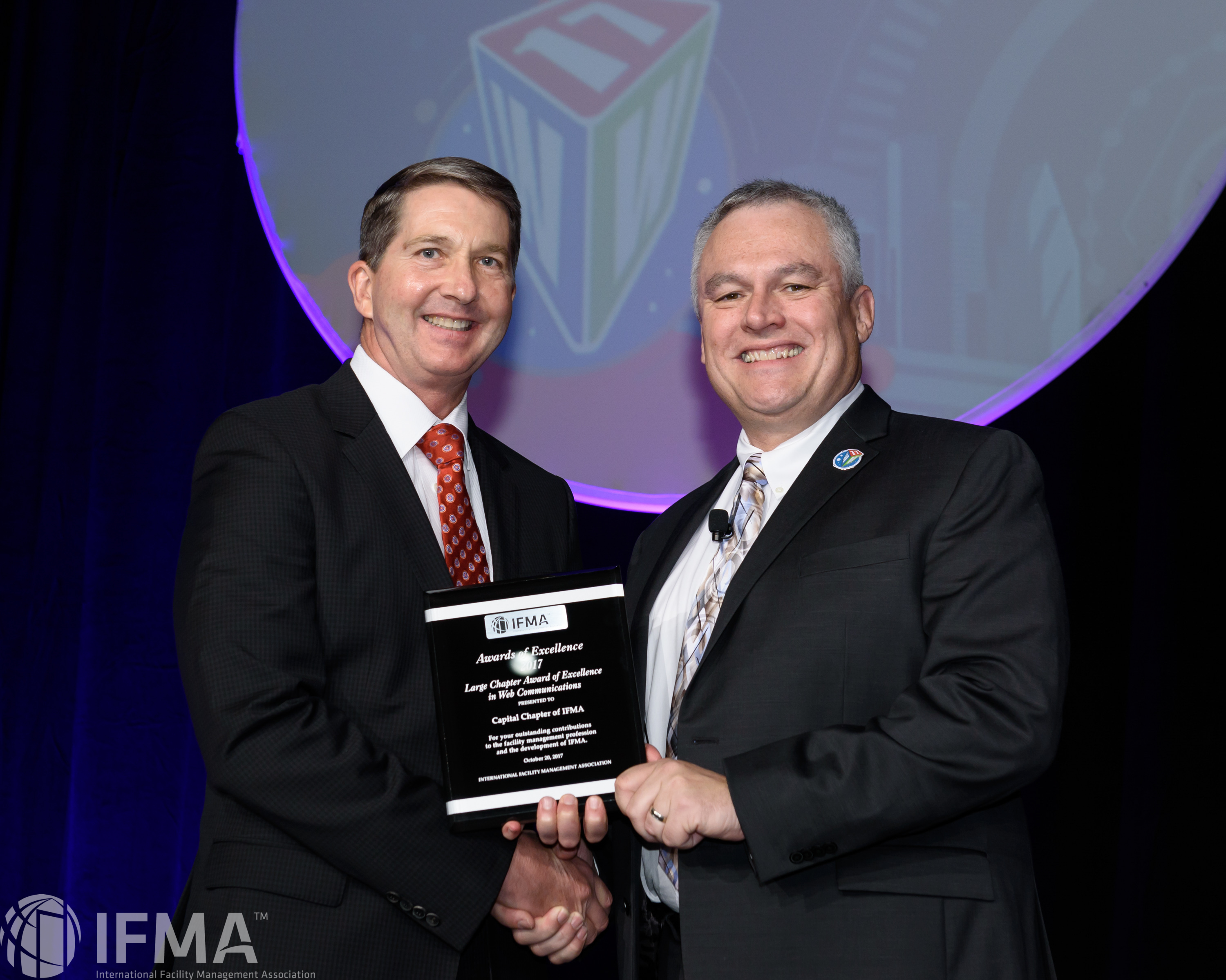 Capital Chapter of IFMA receives Large Chapter Award of Excellence in Web Communications