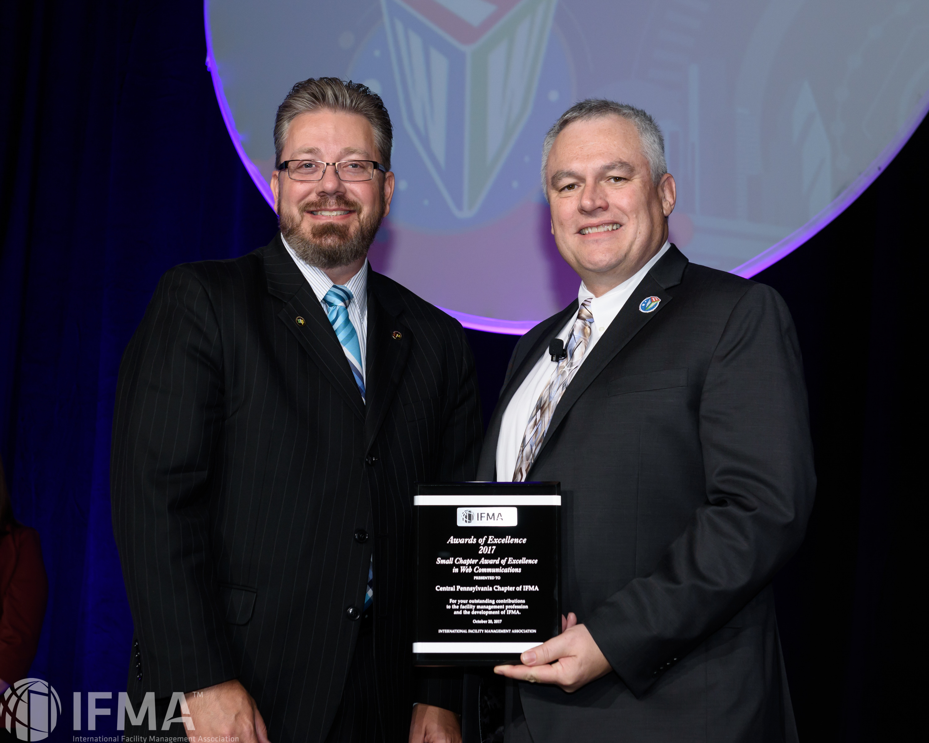 Central Pennsylvania Chapter of IFMA receives Small Chapter Award for Excellence in Web Communications