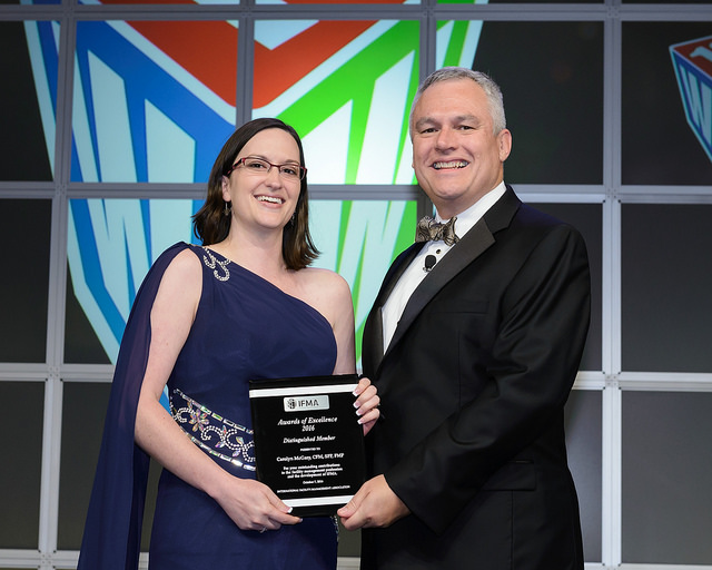 Carolyn McGary, CFM, SFP, FMP receives Distinguished Member