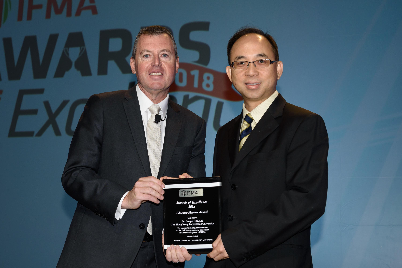 Dr Joseph H.K. Lai receives Educator Award