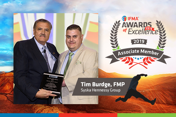Tim Burdge, FMP  receives Associate Member of the Year